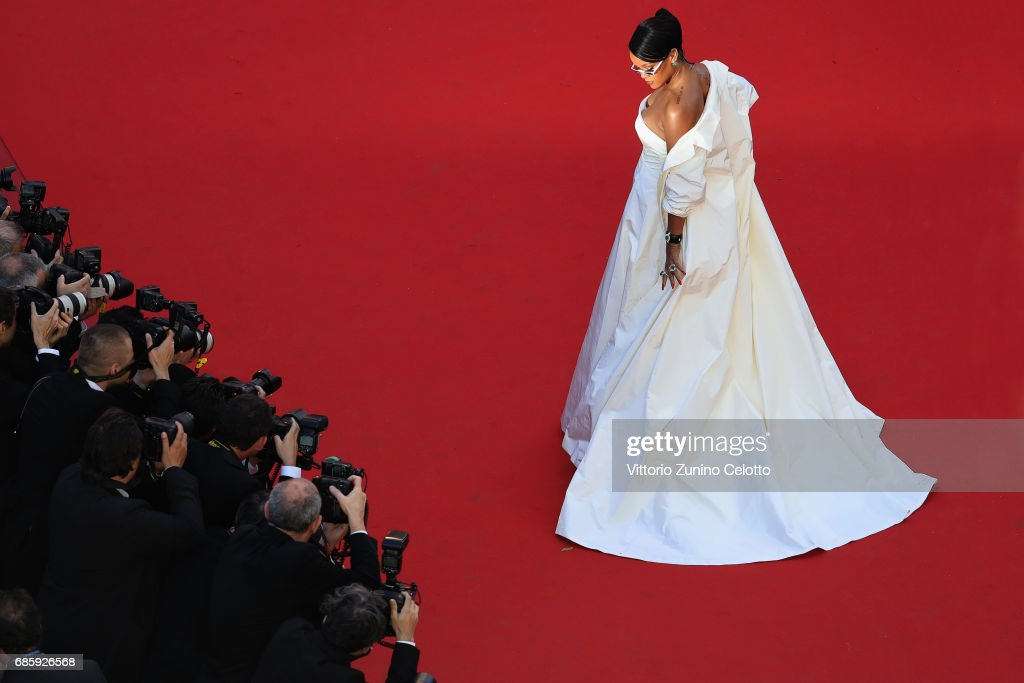 Rihanna attends the 'Okja' screening during the 70th annual Cannes Film Festival at Palais des Festivals on May 19, 2017 in Cannes, France.