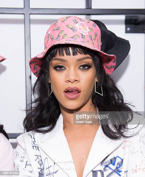 Rihanna attends the Opening Ceremony 'M$$ X WT' launch event at Opening Ceremony on March 30 2015 in New York City