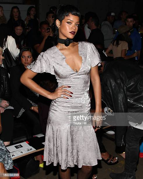 Rihanna attends the Opening Ceremony Spring 2014 fashion show at on September 8 2013 in New York City