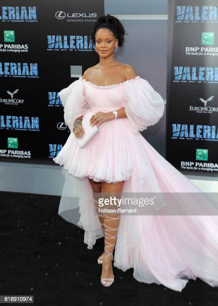 Rihanna attends the premiere of EuropaCorp and STX Entertainment's Valerian and The City of a Thousand Planets at TCL Chinese Theatre on July 17 2017...