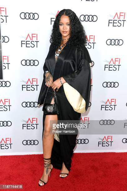 Rihanna attends the Queen Slim Premiere at AFI FEST 2019 presented by Audi at the TCL Chinese Theatre on November 14 2019 in Hollywood California
