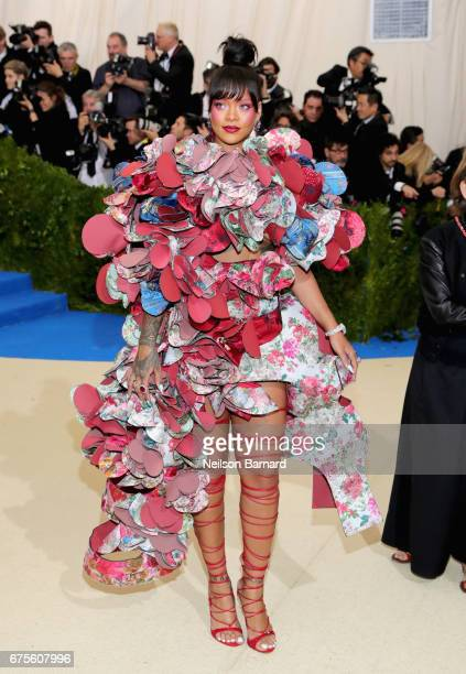 "Rihanna attends the ""Rei Kawakubo/Comme des Garcons: Art Of The In-Between"" Costume Institute Gala at Metropolitan Museum of Art on May 1, 2017 in..."
