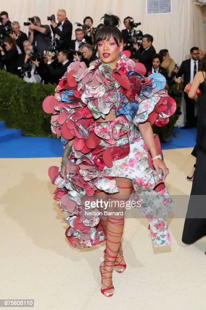 """Rihanna attends the """"Rei Kawakubo/Comme des Garcons: Art Of The In-Between"""" Costume Institute Gala at Metropolitan Museum of Art on May 1, 2017 in..."""