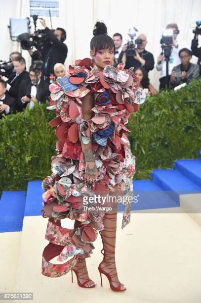 Rihanna attends the 'Rei Kawakubo/Comme des Garcons Art Of The InBetween' Costume Institute Gala at Metropolitan Museum of Art on May 1 2017 in New...