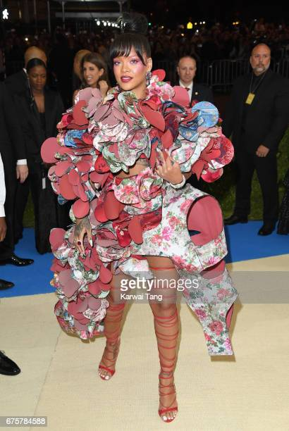 Rihanna attends the 'Rei Kawakubo/Comme des Garcons Art Of The InBetween' Costume Institute Gala at the Metropolitan Museum of Art on May 1 2017 in...