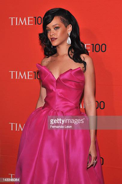 Rihanna attends the TIME 100 Gala celebrating TIME'S 100 Most Influential People In The World at Jazz at Lincoln Center on April 24, 2012 in New York...
