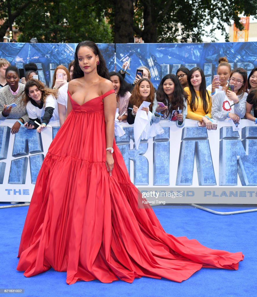 Rihanna attends the 'Valerian And The City Of A Thousand Planets' European Premiere at Cineworld Leicester Square on July 24, 2017 in London, England.
