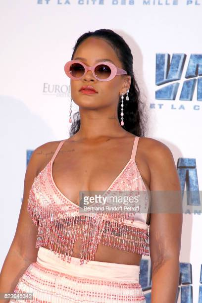 Rihanna attends Valerian and the City of a Thousand Planets Paris Premiere at La Cite Du Cinema on July 25 2017 in SaintDenis France