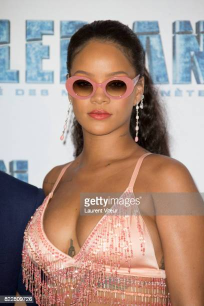 Rihanna attends 'Valerian et la Cite desMille Planetes' Paris Premiere at La Cite Du Cinema on July 25 2017 in SaintDenis France