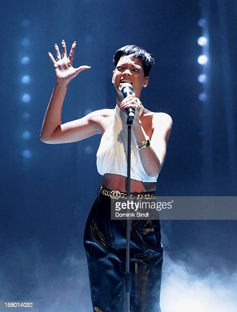 Rihanna attends 'Wetten dass' From Freiburg on December 8 2012 in Freiburg im Breisgau Germany