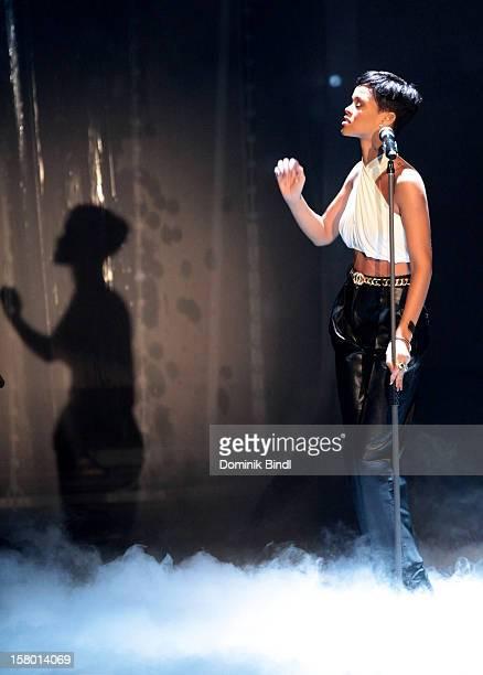 Rihanna attends 'Wetten dass' From Freiburg on December 8 2012 in Freiburg im Breisgau Germany