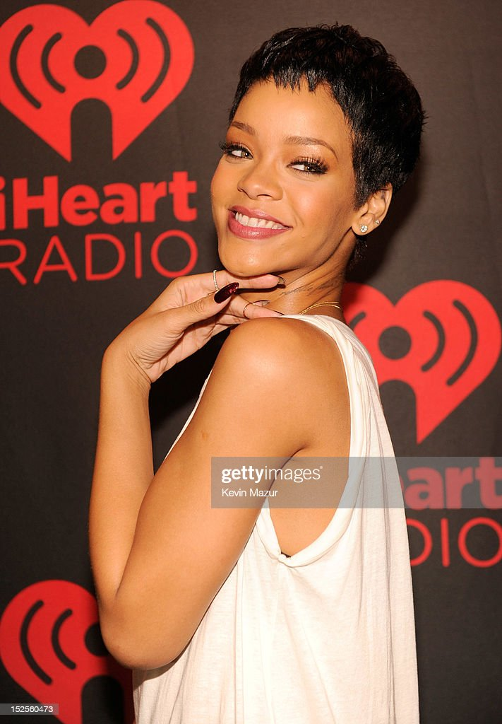 Rihanna backstage during the 2012 iHeartRadio Music Festival at MGM Grand Garden Arena on September 21, 2012 in Las Vegas, Nevada.
