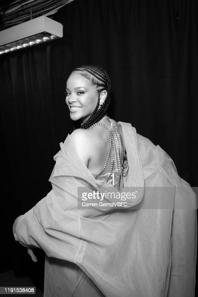 Rihanna backstage stage during The Fashion Awards 2019 held at Royal Albert Hall on December 02 2019 in London England