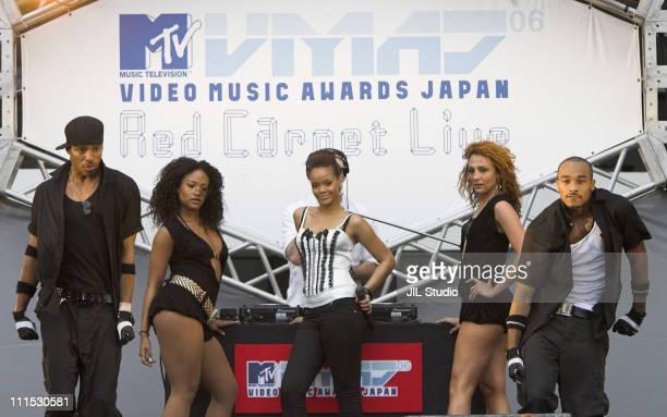 Rihanna Best New Artist Video during MTV Video Music Awards Japan 2006 Red Carpet Live at Yoyogi National Stadium in Tokyo Japan