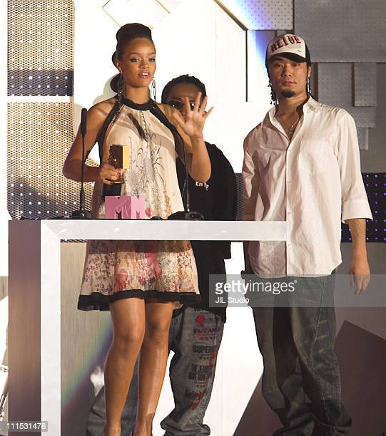 Rihanna Best New Artist Video during MTV Video Music Awards Japan 2006 Show at Yoyogi National Stadium in Tokyo Japan