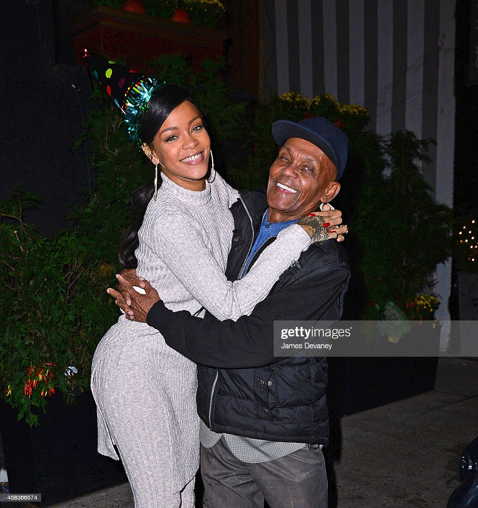 Rihanna celebrates her Grandfather Bravo's 86th birthday at Philippe Chow restaurant on November 4, 2014 in New York City.