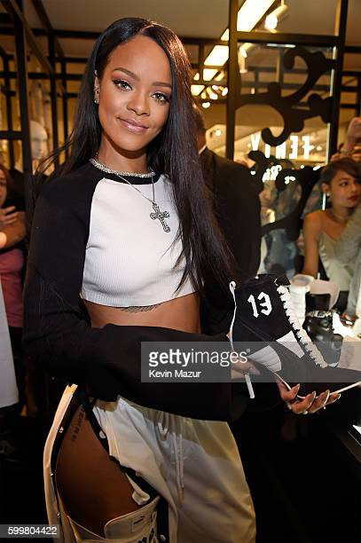 Rihanna celebrates the launch of her collection FENTY PUMA by Rihanna with Bergdorf Goodman on September 6 2016 in New York City