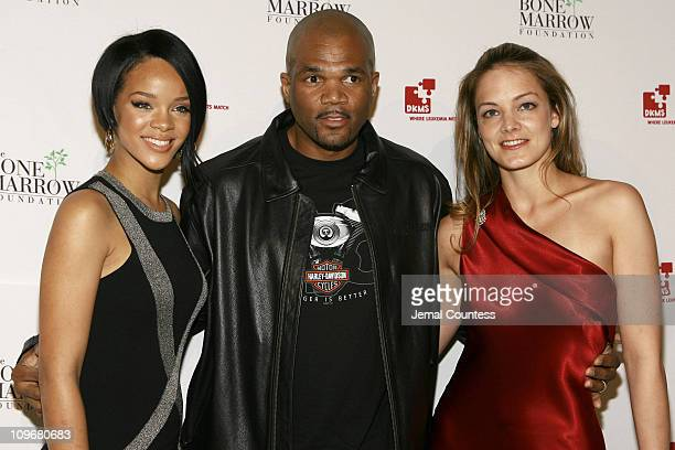Rihanna Daryl DMC McDaniels and Katharina Harf during Links For Life Gala to benefit DKMS and The Bone Marrow Foundation with special performance by...