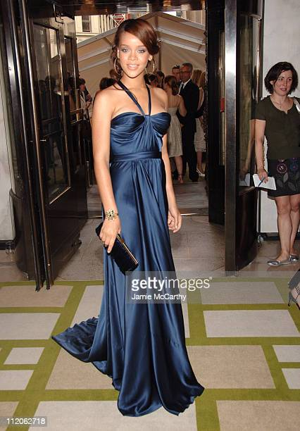 Rihanna during 2006 CFDA Awards Red Carpet at New York Public Library in New York City New York United States