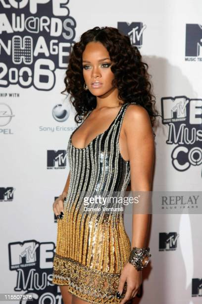 Rihanna during 2006 MTV European Music Awards Copenhagen Arrivals in Copenhagen Denmark