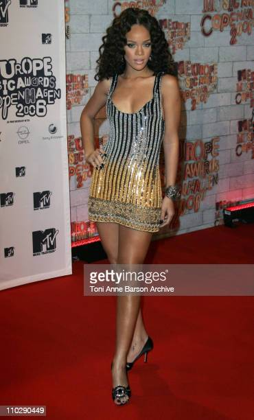 Rihanna during 2006 MTV European Music Awards Copenhagen Inside Arrivals at Bella Centre in Cophenhagen Denmark