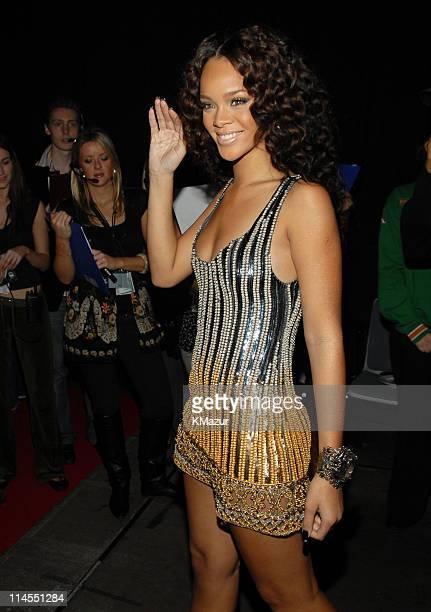 Rihanna during 2006 MTV European Music Awards Copenhagen Red Carpet Arrivals at Bella Centre in Copenhagen Denmark