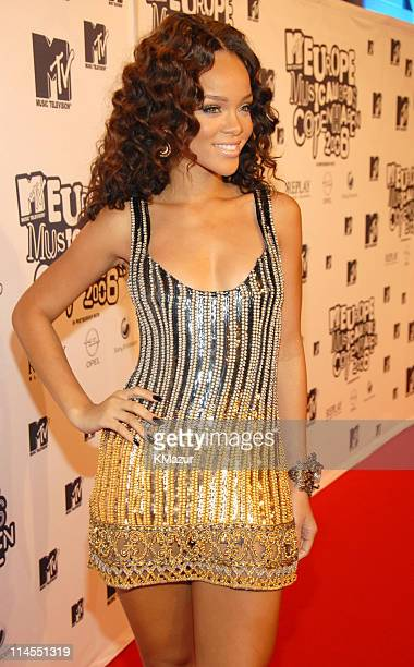 Rihanna during 2006 MTV European Music Awards Copenhagen Red Carpet Arrivals at Bella Centre in Copenhagen Denmark