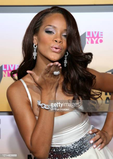 Rihanna during 2006 MTV Video Music Awards Arrivals at Radio City Music Hall in New York City New York United States