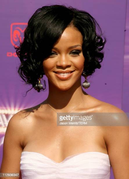 Rihanna during BET Awards 2007 Arrivals at Shrine Auditorium in Los Angeles California United States