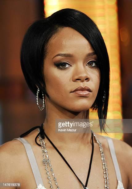 Rihanna during Cameron Diaz Ciara and Mims Visit and Rihanna CoHosts MTV's TRL May 8 2007 at MTV Studios in New York City New York United States