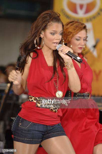 Rihanna during Rihanna Performs on NBC's The Today Show Summer Concert Series July 21 2006 at NBC Studios in New York New York United States