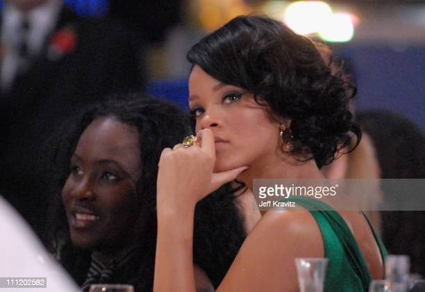 Rihanna during the 2007 World Music Awards held at the Monte Carlo Sporting Club on November 4, 2007 in Monte Carlo, Monaco.