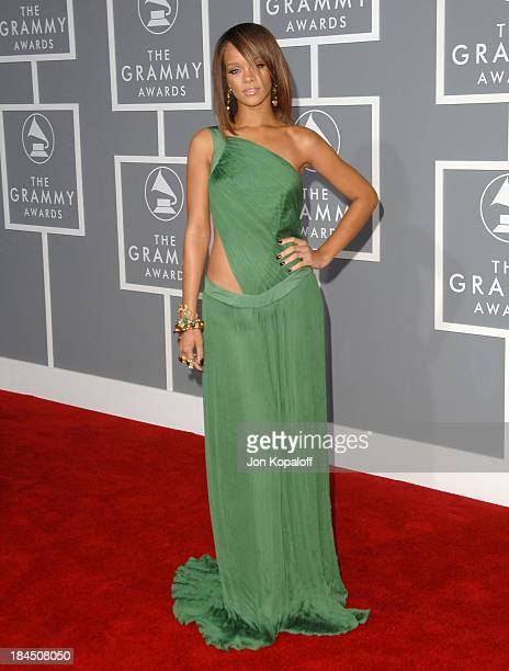 Rihanna during The 49th Annual GRAMMY Awards Arrivals at Staples Center in Los Angeles California United States