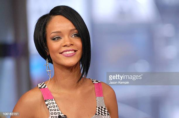 Rihanna during Zach Braff And Rihanna Visit MTV's TRL - May 9, 2007 at MTV Studios in New York City, New York, United States.