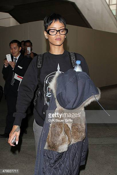 Rihanna is seen at LAX on December 12 2012 in Los Angeles California