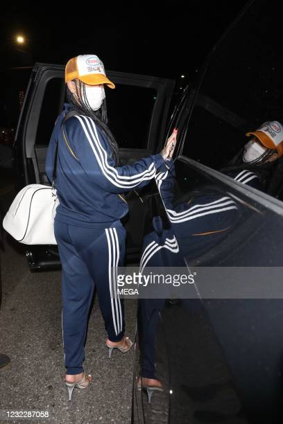 Rihanna is seen at Wallys on April 12, 2021 in Los Angeles, California.