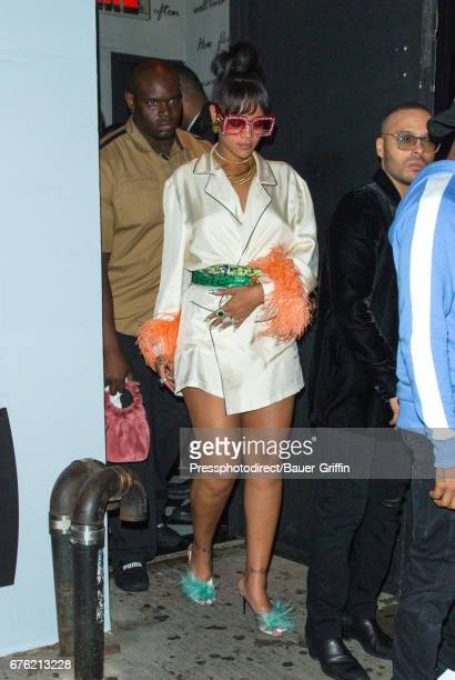 Rihanna is seen attending the Rei Kawakubo/Comme des Garcons: Art Of The In-Between' Costume Institute Gala - After Party on May 02, 2017 in New York...