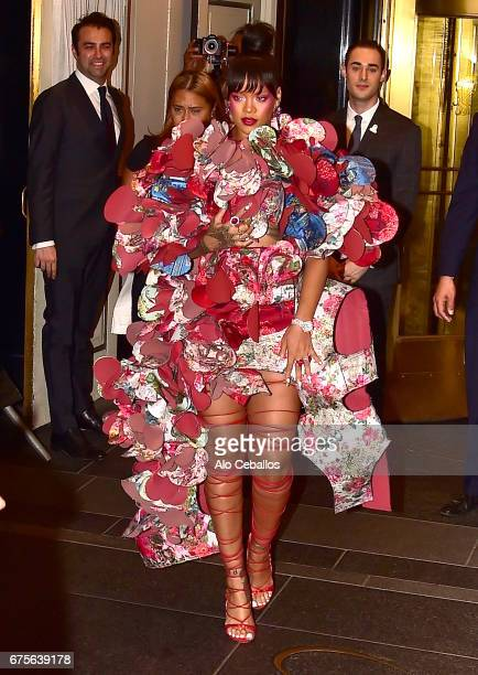 Rihanna is seen for the MetGala on May 1, 2017 in New York City.