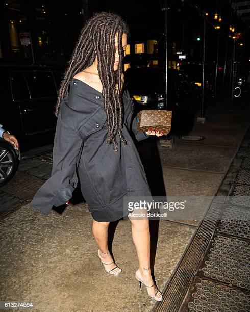 Rihanna is seen heading to Paint Box nail salon in SoHo on October 7 2016 in New York New York