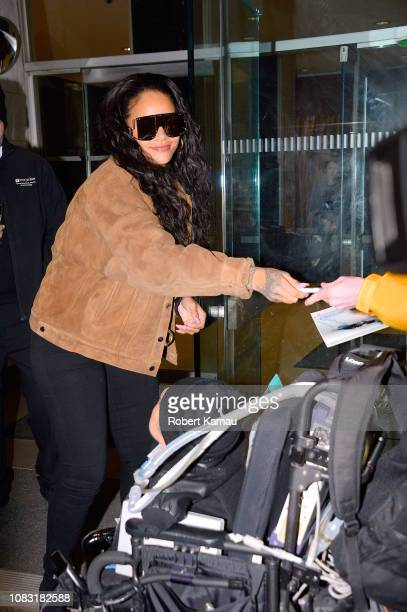 Rihanna is seen in Manhattan on January 15 2019 in New York City