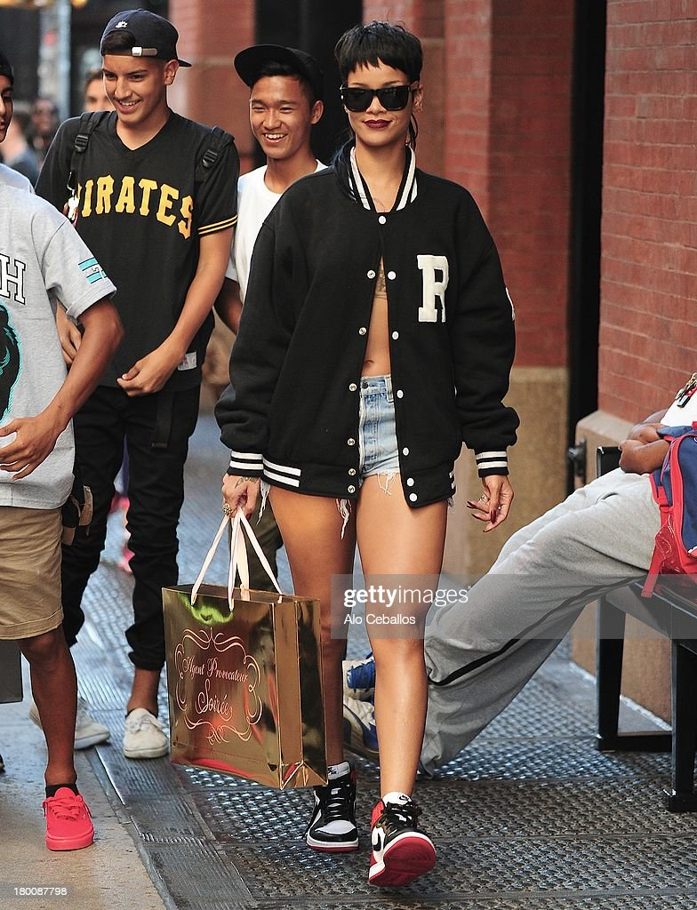 Rihanna is seen in Soho on September 8, 2013 in New York City.