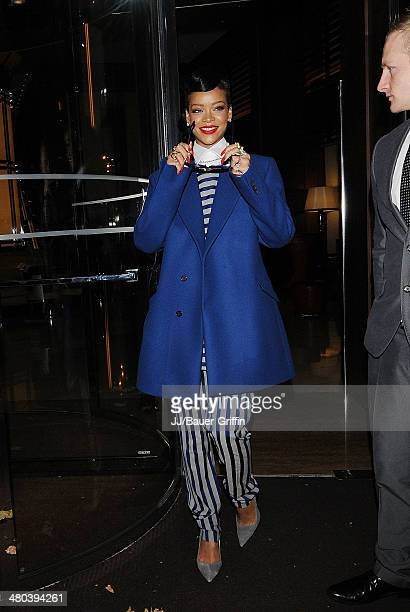 Rihanna is seen leaves her hotel on November 19 2012 in London United Kingdom