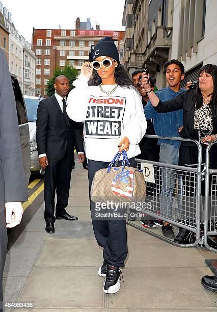 Rihanna is seen on August 31, 2012 in London, United Kingdom.