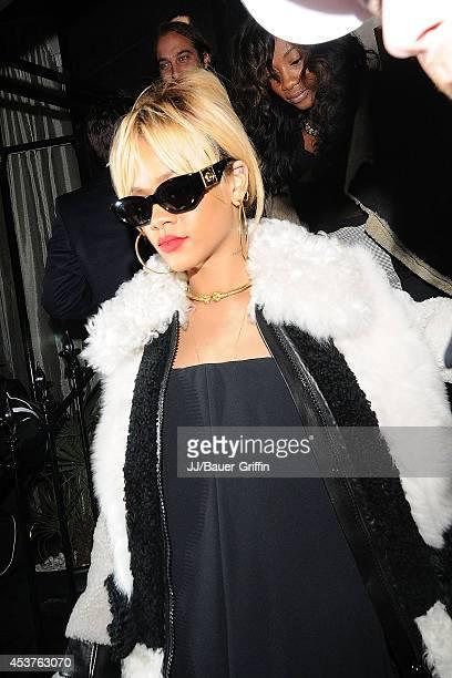 Rihanna is seen on February 21 2012 in London United Kingdom