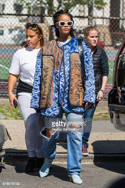 Rihanna is seen on location for 'Ocean's 8' on May 4 2017 in New York City