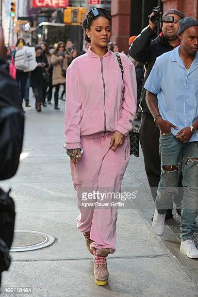Rihanna is seen on March 13 2015 in New York City