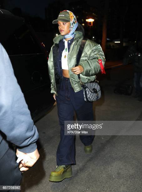 Rihanna is seen on March 23 2017 in New York City