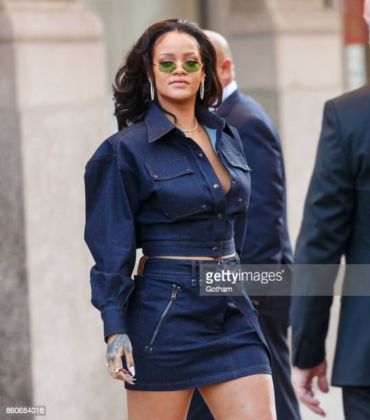 Rihanna is seen on October 12 2017 in New York City