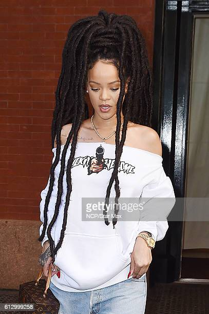 Rihanna is seen on October 6 2016 in New York City