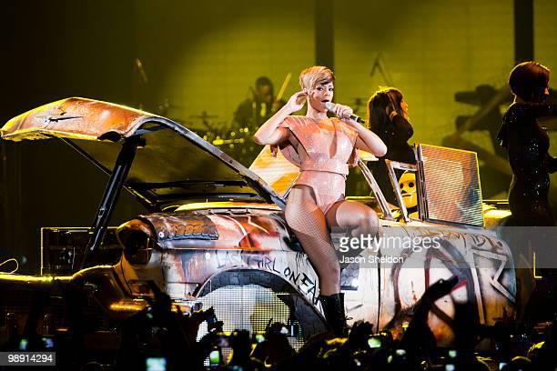 Rihanna kicks off her UK Arena tour at the LG Arena on May 7, 2010 in Birmingham, England.